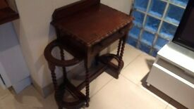 Antique Hall Table/Umbrella Stand