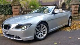 RARE 2006 BMW 630I CONVERTIBLE 66800 MILES VERY HIGH SPECIFICATION HEADS UP HEADS UP DISPLAY,