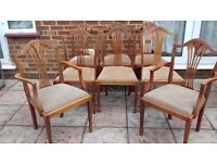 8 x Used Dining Chairs