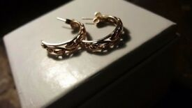 Clogau-Welsh-9ct-Gold-Tree-Of-Life-Half-Hoop-Earrings-Rose-and-Yellow-Gold