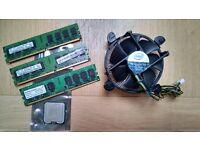 DDR2 Memory 4GB and 2.4GHz Intel Pentium DUAL-CORE (E2220) processor + heat sink