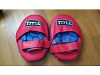 "Kick Boxing Pads ""Title"" Almost New Never Used"