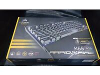 "**NEW** CORSAIR K65 RGB ""RAPIDFIRE"" MECHANICAL GAMING KEYBOARD : BRAND NEW : UNOPENED"