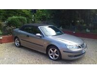 Saab 9-3 Convertible 1.8t Vector s auto - with factory sat nav, heated leather, climate control, FSH