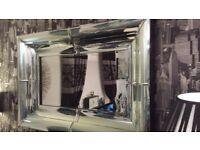 large irredescent mirror 120cm x 80cm
