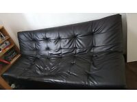 Leather sofa bed for free. It has collapsed slightly but is probably fixable. Good condition.Urgent