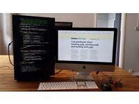 iMac 21.5 inch - 16GB RAM - 1.12TB FUSION SSD - DELL External monitor - Professional Grade setup
