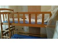 Bunk bed with under bed storage drawers