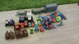 Lightning Mcqueen pixar cars and monster trucks