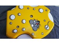 Funky Mouse Cheesy Toilet Seat - With Fixing (yellow and white) In Colour