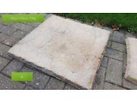Paving stones, various sizes/shapes. £1 per piece