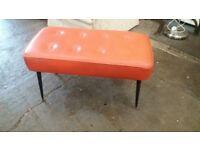 Retro orange footstool