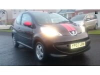 2007 Peugeot 107 Sport, 3 Door, Only 40,000 miles (£20 tax) and 1 years MOT, Good service History