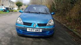 RENAULT CLIO EXPRESSION. 2001REG. 1.2L PETROL.MILE 107000. MOT JULY 2018 SERVICE HISTORY.
