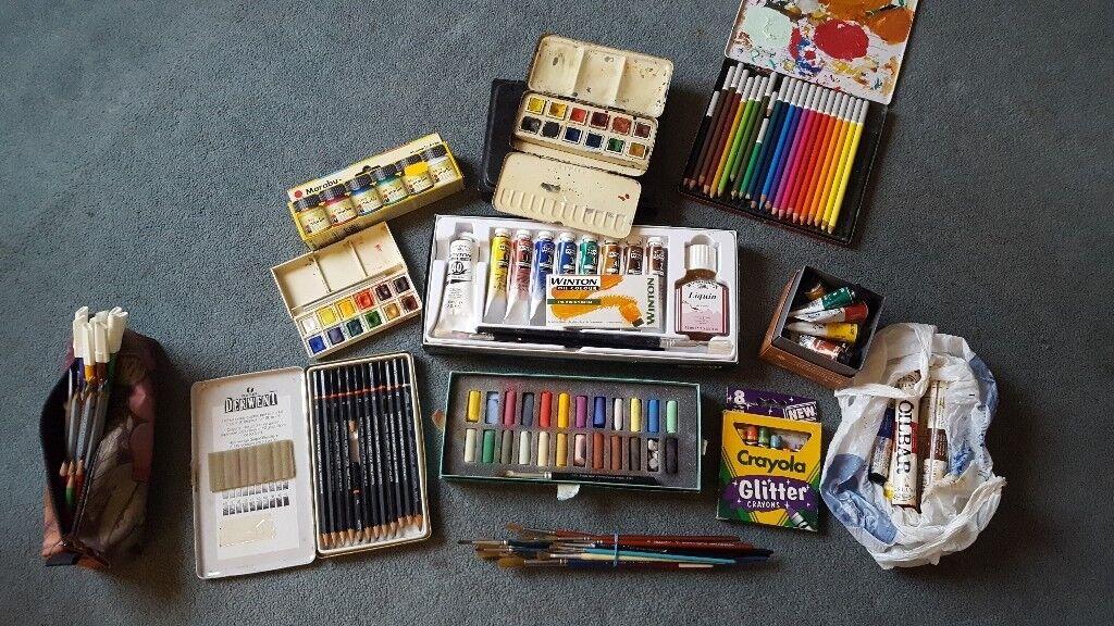 Art materials -oil paints, watercolours, pastels ...