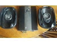 Kickers amp and kenwood 6 by 9 speakers