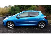 Very low mileage Peugeot 207 Sportium 1.6 HDI with full years MOT.