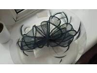 Rue Lafayette Navy Blue Fascinator Never Worn