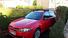Nissan Almera 1.5 Pulse (Flame Red) 2003 full year M.O.T. Snow tires