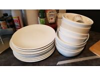 White Plates Bowls Ikea - very cheap