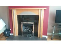 Stunning, Fire surround & Gas fire inset, available for collection or local delivery (small fee)