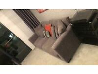DFS Sofa, Snuggler Armchair and Storage Foot Stool For Sale
