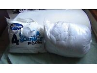 "Luxury 4"" Thick Size Memory Foam Double Mattress +Silentnight x4 pillows and double Duvet/new"