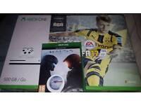 Xbox one S fifa 17 bundle and Halo 5