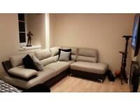 leather dfs corner sofa 6 months okd