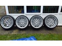 "Schnitzer offset alloy wheels 20"""