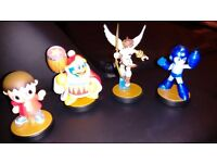 7 amiibo figures, including Mega Man and Kid Icarus