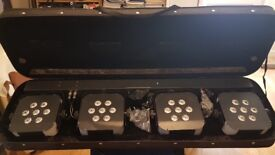 Stairville Tri Led Stage Lighting units plus DMX Controller