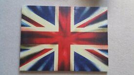 "Large Union Jack Canvas 31.5"" x 24"" PERFECT CONDITION"