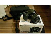 Canon 550D with original box and kit lens