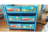 Cute transport themed kids storage
