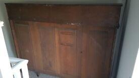 Antique solid wood book case