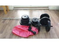 GYM WEIGHTS FOR SALE HARDLY USED