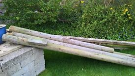 recycled garden posts - perfect pergola material