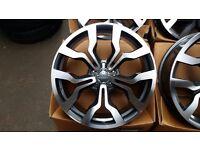"18"" ALLOYS WHEELS 5 X100 AUDI STYLE FITS MK4 GOLF MK4 A3 S3 MK1 TT SEAT LEON IBIZA POLO GTI"