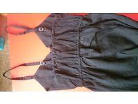 Black 100% linen dress