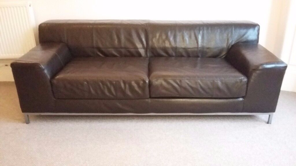 Super Dark Brown Leather Ikea Kramfors Sofa Excellent Condition In Langside Glasgow Gumtree Inzonedesignstudio Interior Chair Design Inzonedesignstudiocom