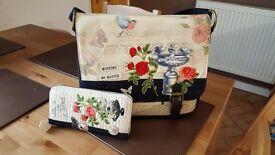 Vendula songbird messenger bag and purse