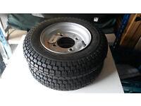 "2 x Spare Wheel & Tyre 350 X 8"" / PCD 4.5"" / 4 Stud Grey 3.50-8 (SWTT72 / SWTT70)"