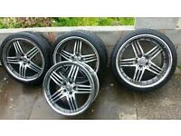 "20"" Mercedes AMG Brabus Style Diamond Cut Staggered Alloys... Fit B C E S Class CLK SL 5x112 PCD"