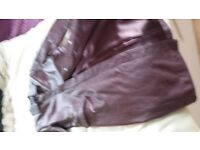 Full Length Ladies Leather Coat
