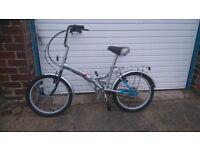 "Challenge 20"" Wheel Silver Folding Bike, used/nearly new"