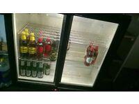 2 door back bar bottle fridge. pat tested and in good working order