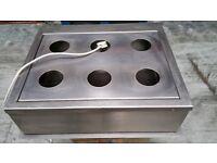 Stainless Steel Bain Marie & Food Warmer. 6 Eyes. wih Tap. London NW10