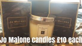 Real Jo Malone Candles. All Jasmine and Mint. £10 each. Have 10 left.