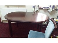 Dinning table with 4 chairs mohagny